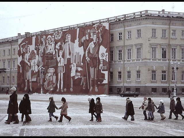 Здравствуй, черно-белый Ленинград март, 1983. Хмуро, сыро но прекрасно. кинохроника, СССР