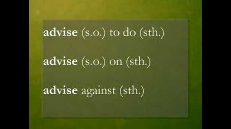 AdviseRecommendSuggest - Common Mistakes in English