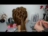 Hairstyle for long medium hair. Вечерняя прическа на средние и длинные волосы