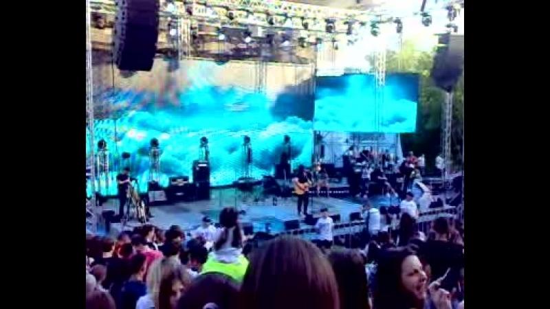 Dave Lubben на концерте Kutless в Одессе