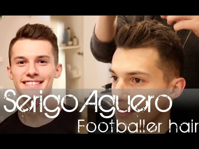 Sergio Aguero Football Player Hairstyle | Men's Short Hair Tutorial | Slikhaar TV