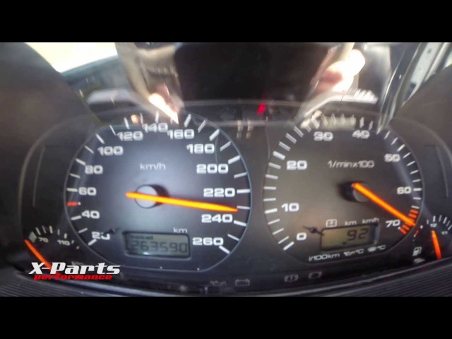 VW Golf VR6 Turbo 850HP acceleration 100-250km/h