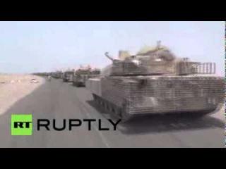 Yemen Hundreds of Saudi tanks roll out of Aden to bolster Hadi Саудовская Аравия вторглась в Йемен.