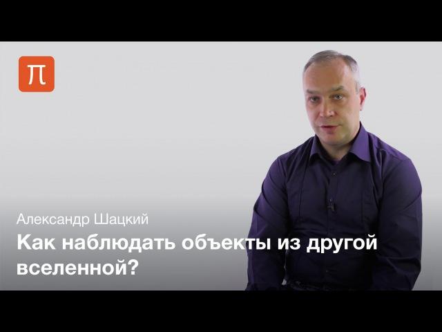 Наблюдательные проявления черных дыр и кротовых нор Александр Шацкий