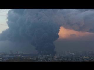 Видео крупного пожара в Санкт-Петербурге