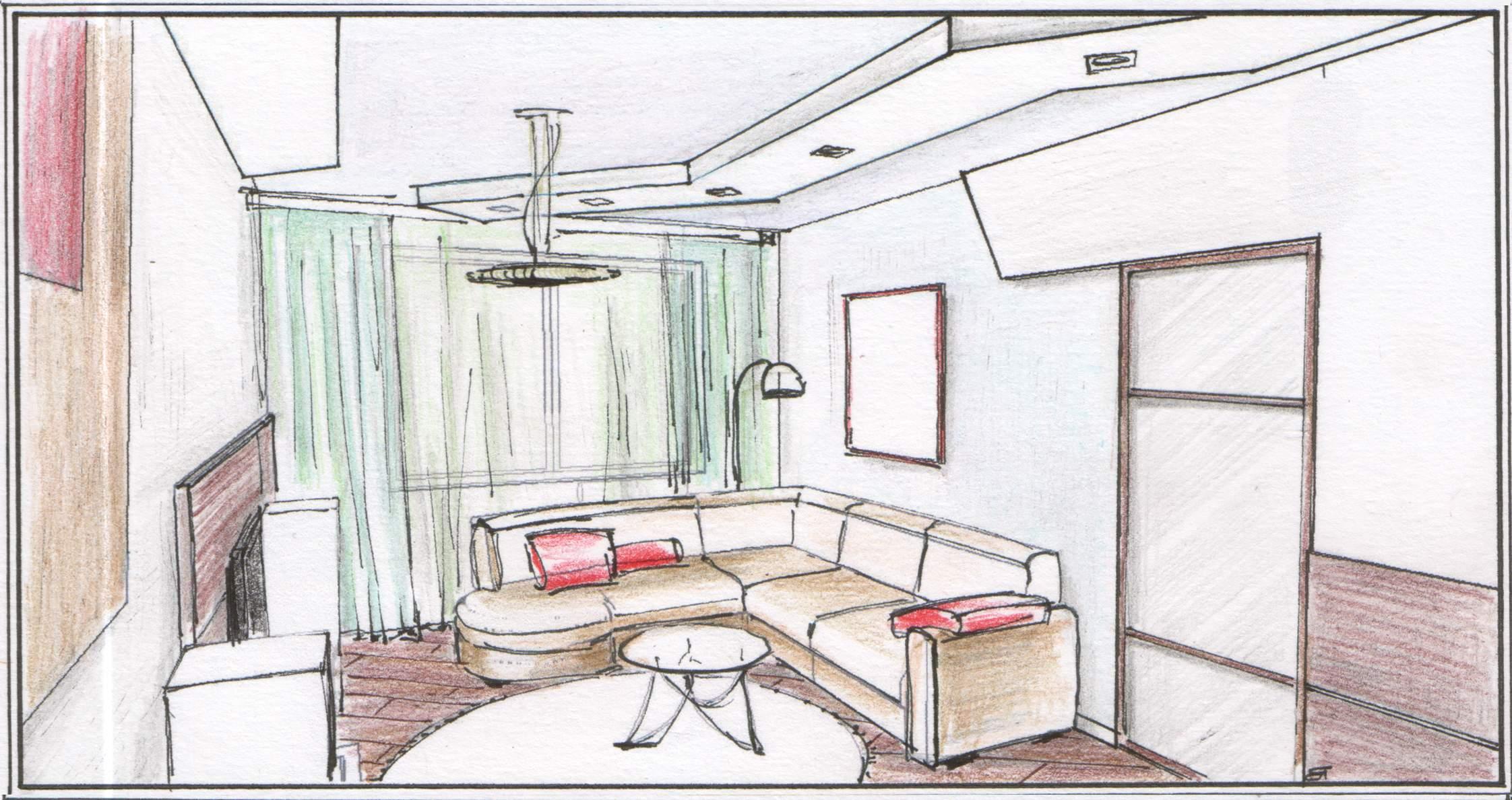 Рисунки дизайна квартиры