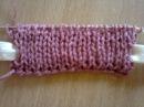 Двойная резинка (вязание на спицах). Double Gum (knitting).