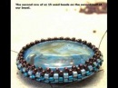 The making of a Reversible Peyote Stitch Gemstone Pendant -Lexi Butler Designs