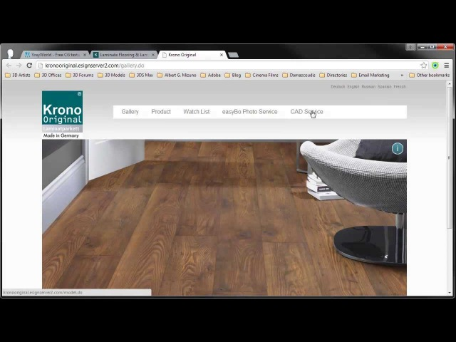Vray World *Useful tips - Krono Original 3D wooden floor.
