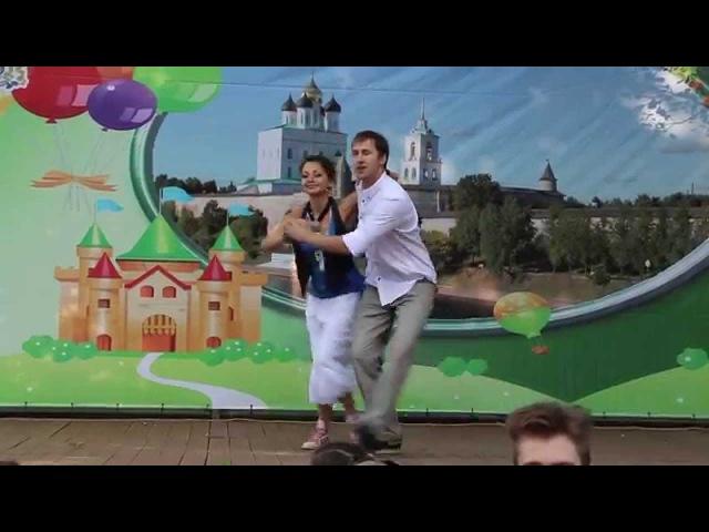 Псков - Сальса, Антон и Аня на день города, 24.07.2015