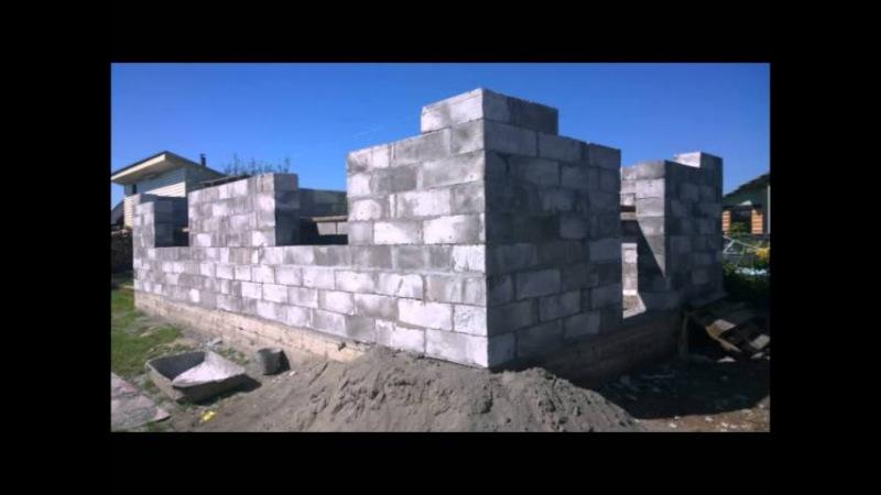 Дом из пеноблока 90 м 2 за 15 дней