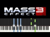 Mass Effect 3 (Synthesia: piano tutorial) - Leaving Earth (+ ноты)
