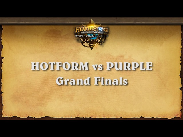 Hotform vs Purple - Match 13 - Hearthstone Americas Championship | Grand Finals