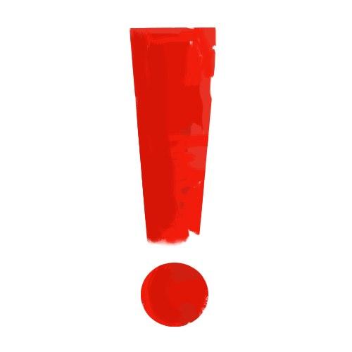 красный вослицательный знак иконка рисунок скачать бесплатно лицензия