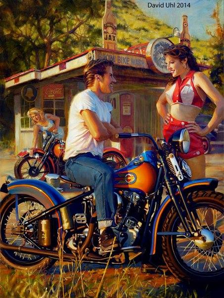 кастомной мотоцикл
