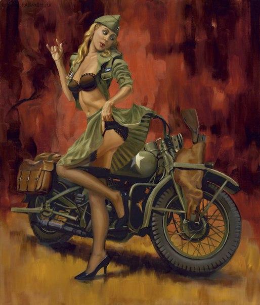 военный мотоцикл