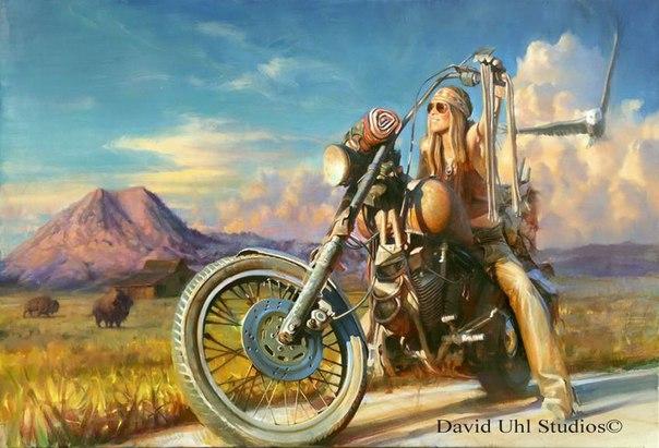 картина мотоцикла