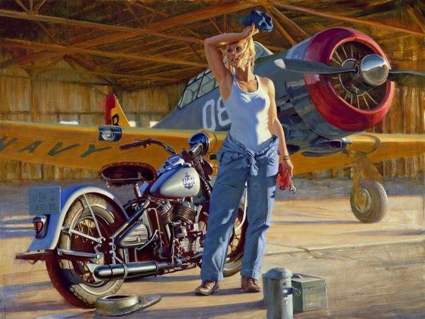 самолёт и мотоцикл