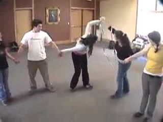Circle Pass -- Duct Tape Teambuilding Game