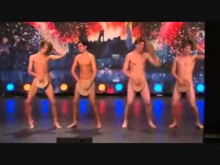 Sweden's Got talent   4 guys naked dance :v