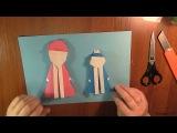 Оригами: Как сделать Снегурочку и Деда Мороза из бумаги