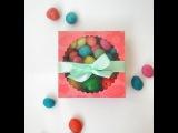 Коробочка для сладостей и пасхальных яиц с прозрачным окошком  Easter treat box with window s...