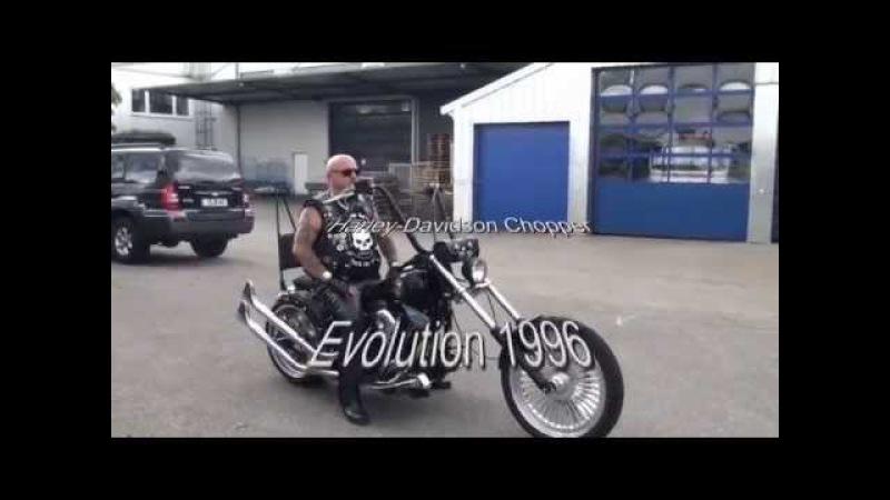 Harley Evolution Chopper - what a sound!
