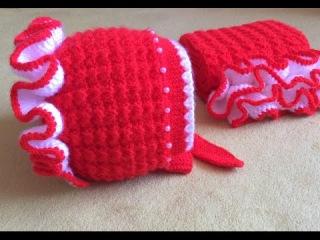 Caciulita tricotata Partea a III-a /Вязание спицами для начинающих Вязаная шапка/How to knit a hat