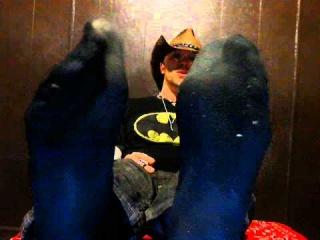 Wiggling  My Toes In Black Dress Socks