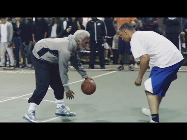 Звезды NBA переодетые в стариков в игре bonus (HD)