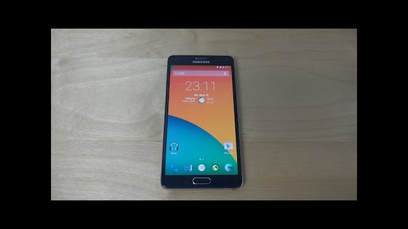 Samsung Galaxy Note 4 Android 5.1 Lollipop Ice Cold Project - Review (4K)