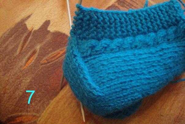 Вязание тапочки на спицах без швов 81