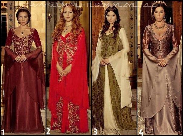 Фото платьев из сериала великолепный век