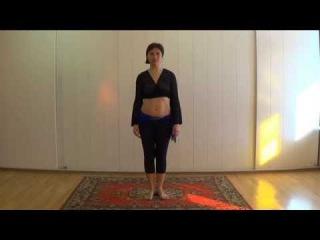 Как научиться делать волну. Уроки танца живота. Волна тазом