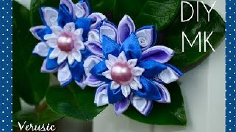Красивые цветы из атласной ленты своими руками
