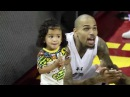 Chris Brown Practices Some Dance Moves with Daughter Royalty at Power 106 All Star Game