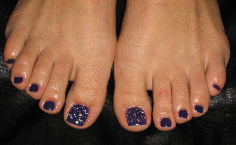 Покрытие ногтей ног гель-лаком дизайн