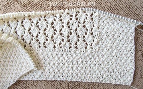 Плед и чепчик ажурной вязки для новорожденного выполнены из хлопковой пряжи.