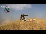 Сирия.Поражение бронированной машины СНО из ПТРК BGM-71TOW.Северный Алеппо. Июнь 2015.