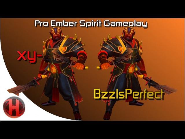 Dota 2 - xy- vs. BzzIsPerfect - Ember Spirit Gameplay