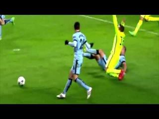 Jordi Alba DIVE Manchester City vs FC Barcelona 1-2 (24-02-2015)
