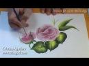Curso pintura muticarga pintar rosas Painting roses one stroke painting