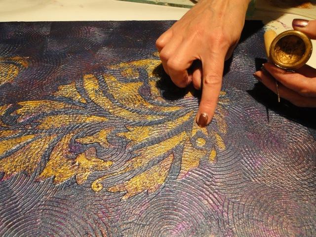Мастер класс Барельеф орнамента по трафарету часть 2(2) *Необычный декор стен своими руками*