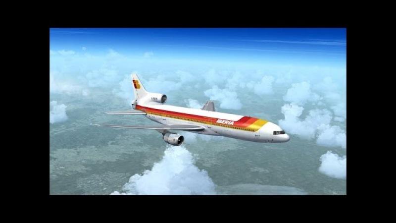 FSX Full flight from Madrid to Barcelona (LEMD - LEBL) on Lockheed L-1011 TriStar Iberia