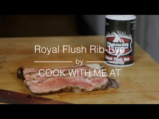 Royal Flush Rib-Eye-Steak - Grilled on the