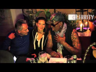 Dennis Rodman enjoys his first evening in Moscow, 27.11.2014