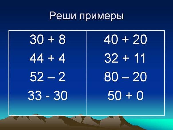 Решаем не линится,все примеры за 1КЛАСС!