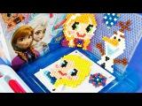 겨울왕국 Frozen 아쿠아비즈 세트 엘사 올라프 인형 Disney Frozen Princess Elsa Olaf Beads Toy Холодное сердце игрушка