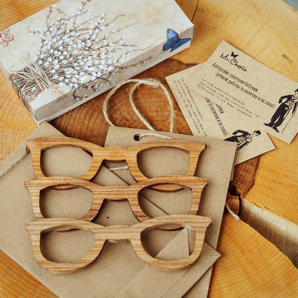 Бабочка-галстук из дерева своими руками 16