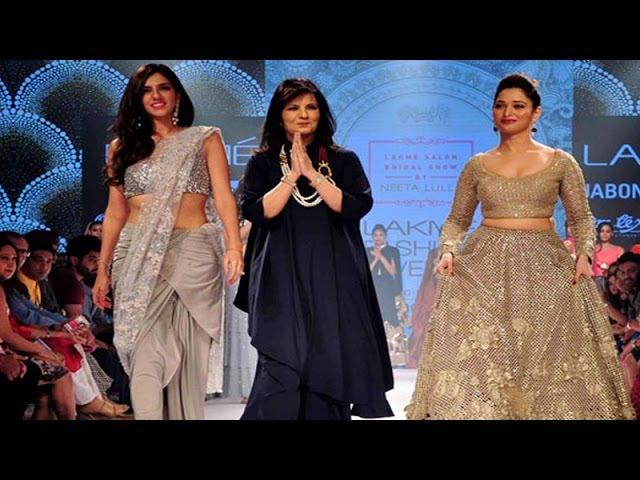 Tamannaah Bhatia Sizzles The Ramp for Neeta Lulla   Lakme Fashion Week 2015